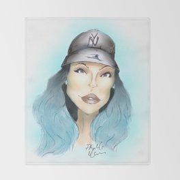Kylie Jenner Realness  Throw Blanket