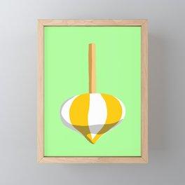Yellow Striped Top Framed Mini Art Print