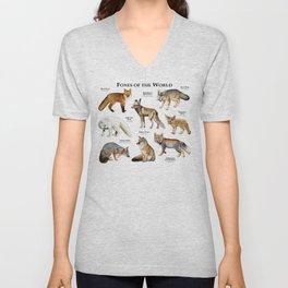 Foxes of the World Unisex V-Neck