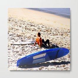 Bondi Surfer Metal Print