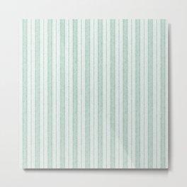Velvety Snakeskin Stripe in Pale Green Metal Print