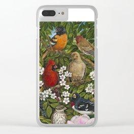 Garden Birds Clear iPhone Case