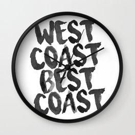 West Coast Best Coast Monochrome Wall Clock