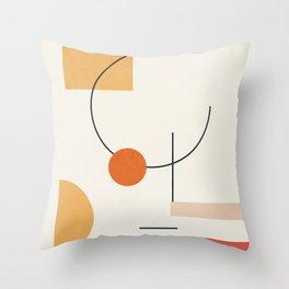 Clean Flow Geometry 6 Throw Pillow