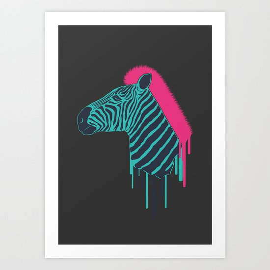 Zebra's Not Dead Art Print