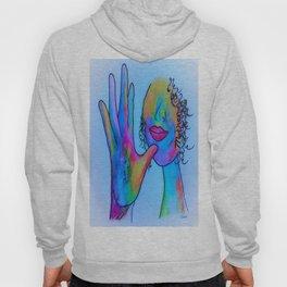 ASL Mother in Blue Overtones Hoody