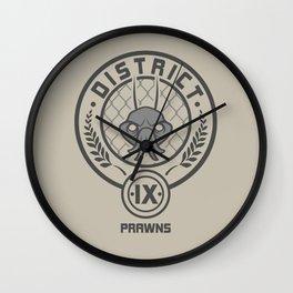 Prawn District Wall Clock