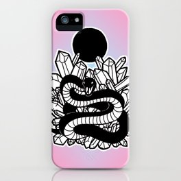 Crystal Moon Serpent iPhone Case