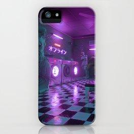 Laundromat blue iPhone Case