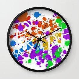 Painted pride Wall Clock