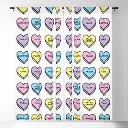 Baesic Candy Hearts - Mexican Food Blackout Curtain