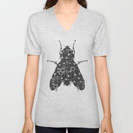 Flys and Flowers Unisex V-Neck