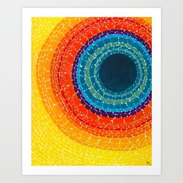 African American Masterpiece The Eclipse by Alma Thomas Art Print