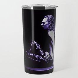 Loki - A Study in Black/White Travel Mug