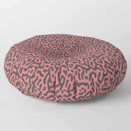 Warped Turing Pattern (Rose Gold) Floor Pillow