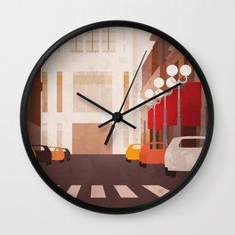 New York Manhattan watercolor Wall Clock