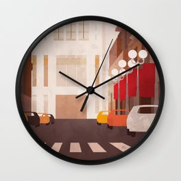 New York Manhattan watercolor Wall Clock