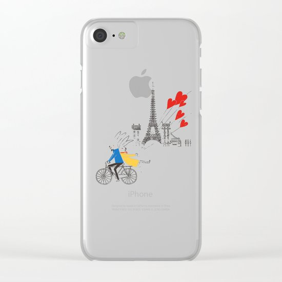 Paris in Love Clear iPhone Case