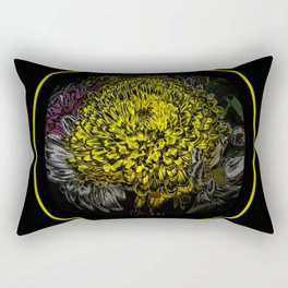 Black Yellow Pink Design Rectangular Pillow