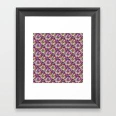 JOYFUL AND DOTTY FLOWER PATTERN Framed Art Print