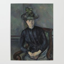 Madame Cézanne with Green Hat Poster
