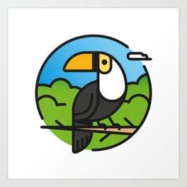 Toucan –  Color Art Print
