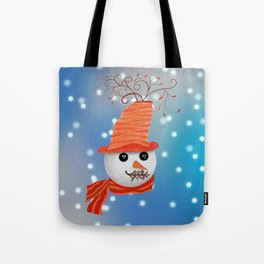 Snowman Christmas Card Tote Bag