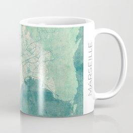 Marseille Map Blue Vintage Coffee Mug