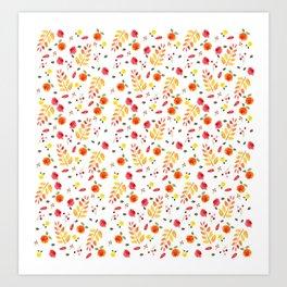 Floral Autumn Pattern Art Print