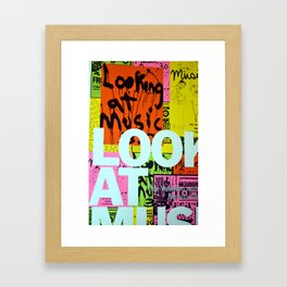 To Look at Music Framed Art Print