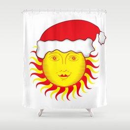 Sun: Merry Christmas Shower Curtain
