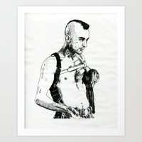 taxi driver Art Prints featuring Taxi Driver by Art & Ink