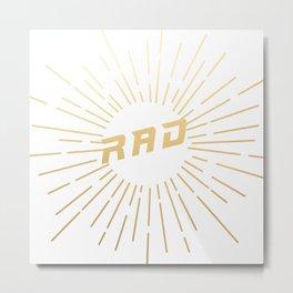 RAD (gold) Metal Print