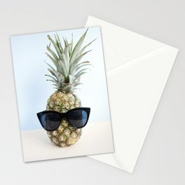 Pineapple With Sunglasses Stationery Cards