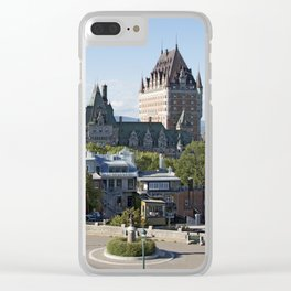 Old Quebec City featuring Château Frontenac Clear iPhone Case