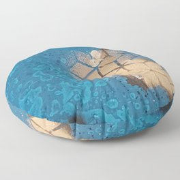 Cube Familiar Place - Made With Unicorn Dust by Natasha Dahdaleh Floor Pillow