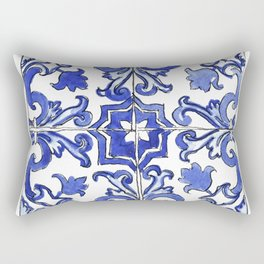 Blue and White Portuguese tile Rectangular Pillow