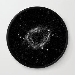 Helix Nebula Black and White Wall Clock