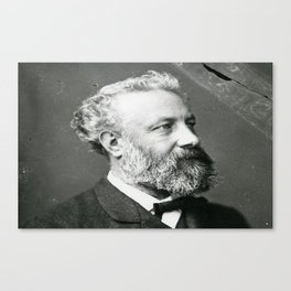 portrait of Jules Verne by Nadar Canvas Print