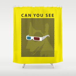 Can you see it? A 3d optical experience Shower Curtain