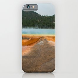 Grand Prismatic Spring Yellowstone National Park, Landscape Nature Photography Abstract iPhone Case