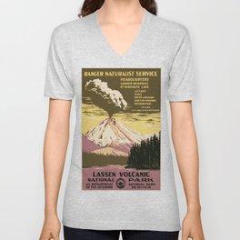 Vintage poster - Lassen Volcanic National Park Unisex V-Neck