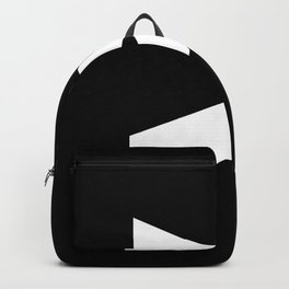 Greater-Than Sign (White & Black) Backpack