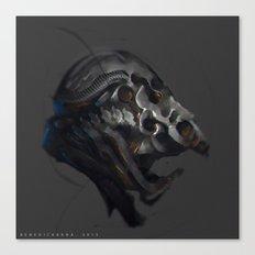 Grotesque helmet Canvas Print