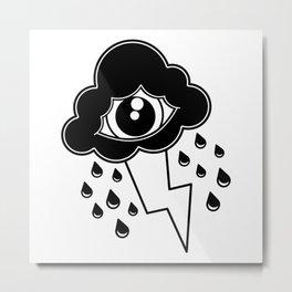 Eye Cloud Metal Print