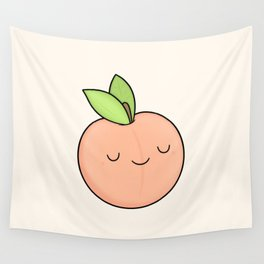 Happy Peach Wall Tapestry