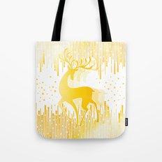 Dancing Deer  - Golden Tote Bag