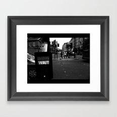 Pedestrians Wait Framed Art Print