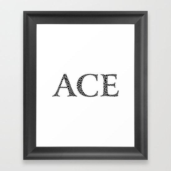 Ace of Spades Framed Art Print