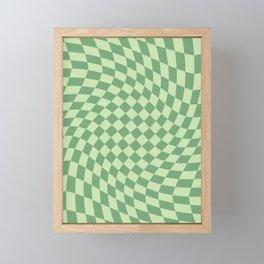 Forest Green Check Framed Mini Art Print